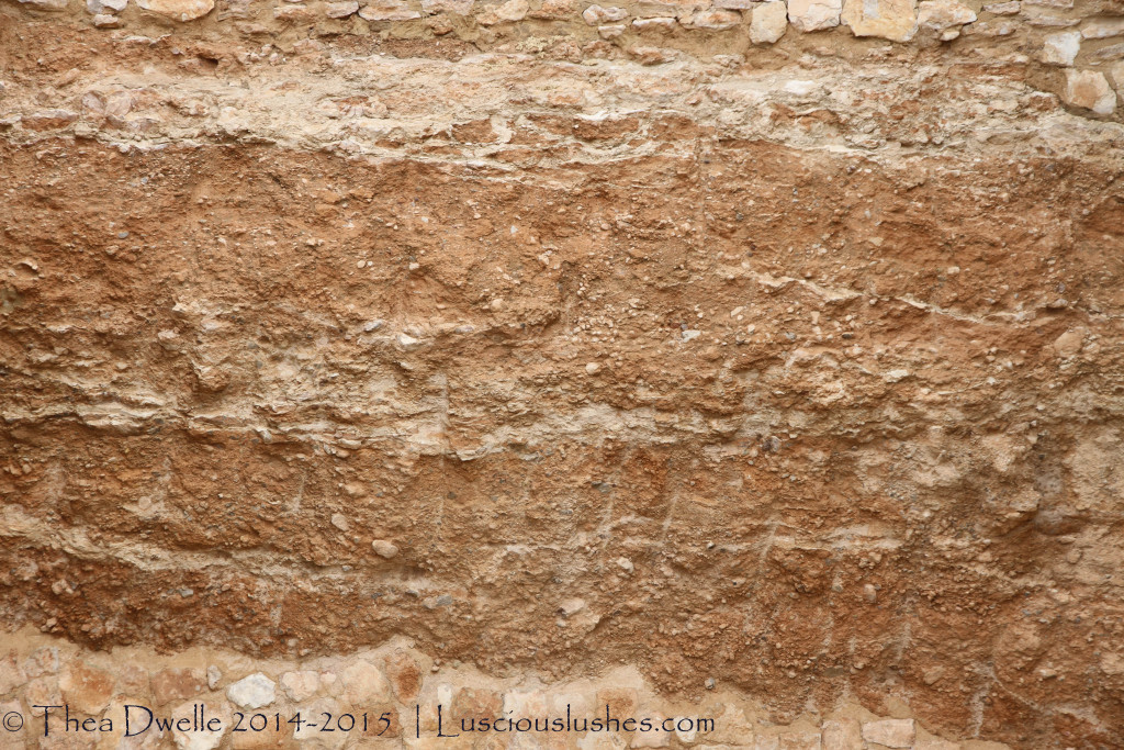soil strata at Sierra Salinas